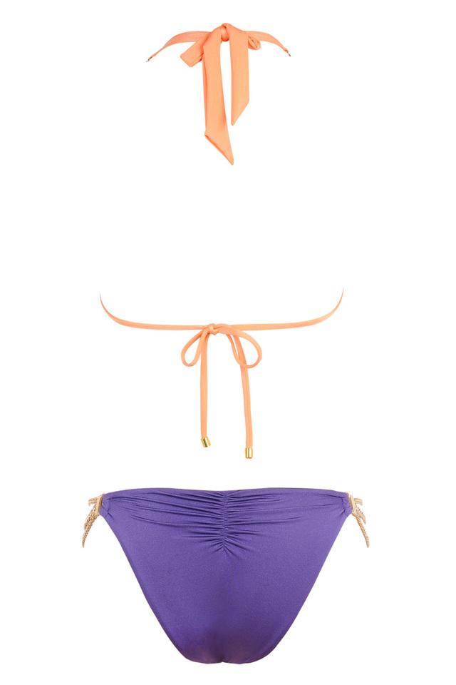 Contrast colour bikini