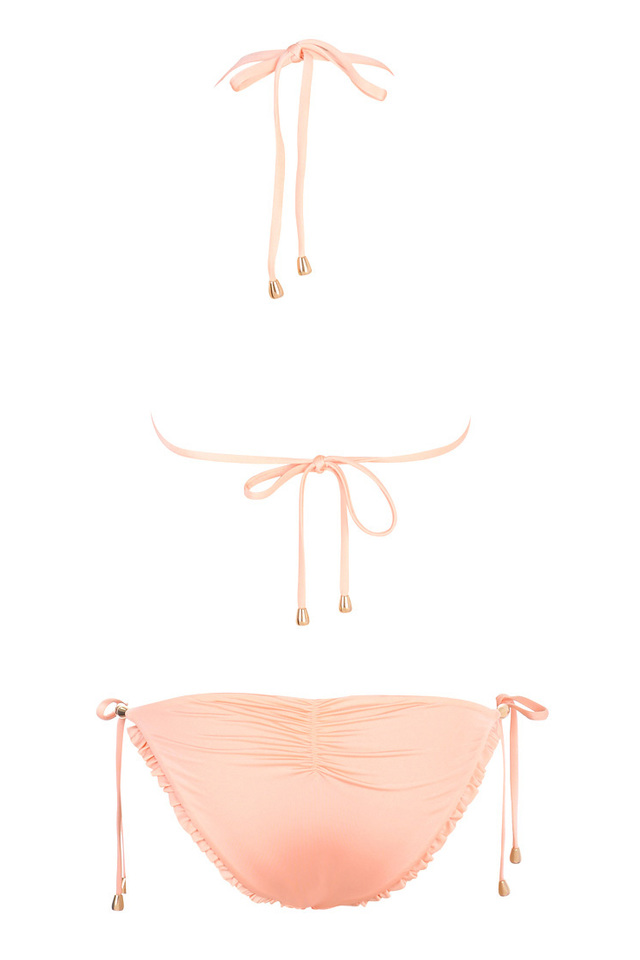 Low rise peach bikini
