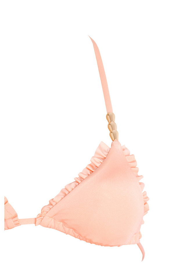 Peach side tie bikini