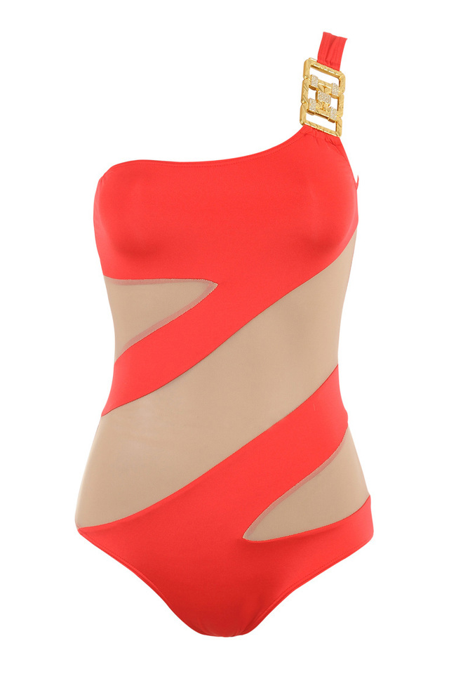 coral swimsuit