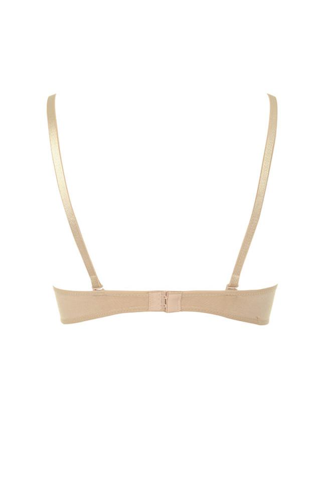 Low cut nude bra