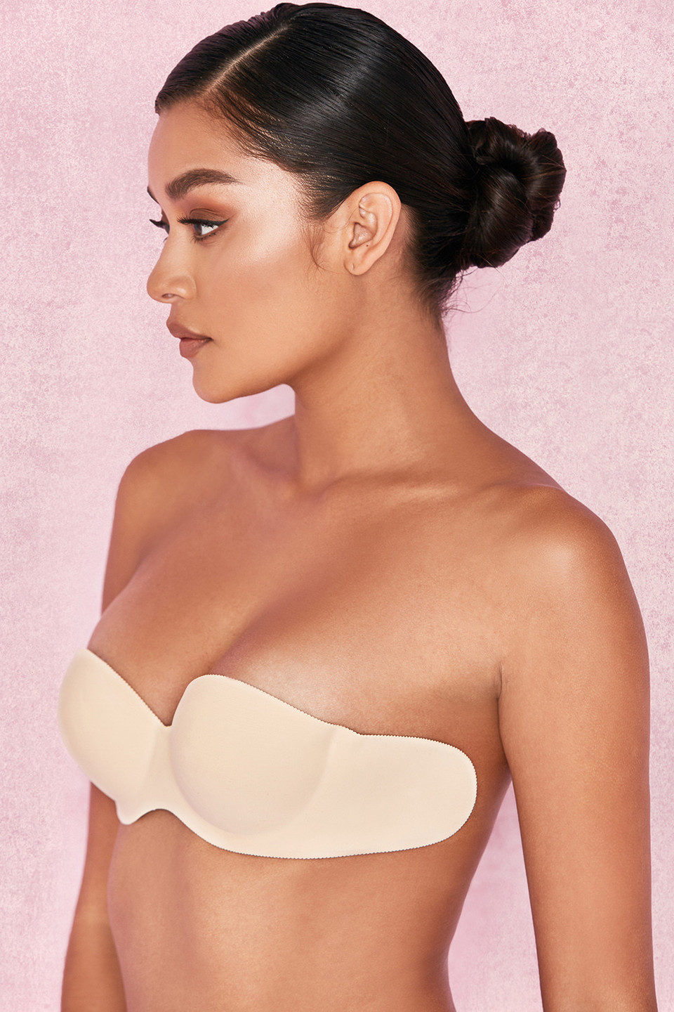 Strapless Backless Moulded Sticky Bra - Beige