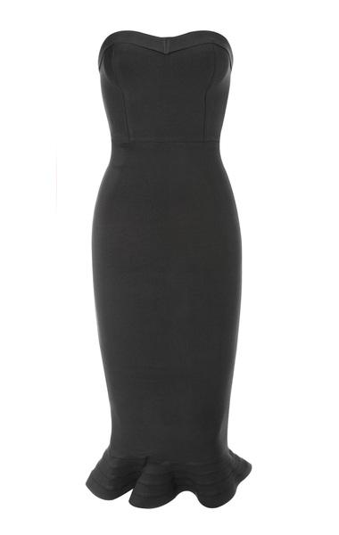 the fabrizia bandage dress in black