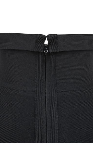 fabrizia black strapless bandage dress