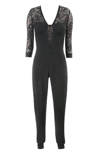 the stefanel jumpsuit in black