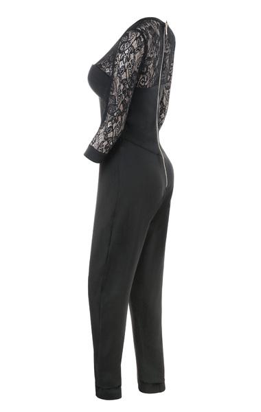 stefanel black jumpsuit