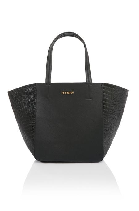 Tote Love Black Leatherette Tote Bag