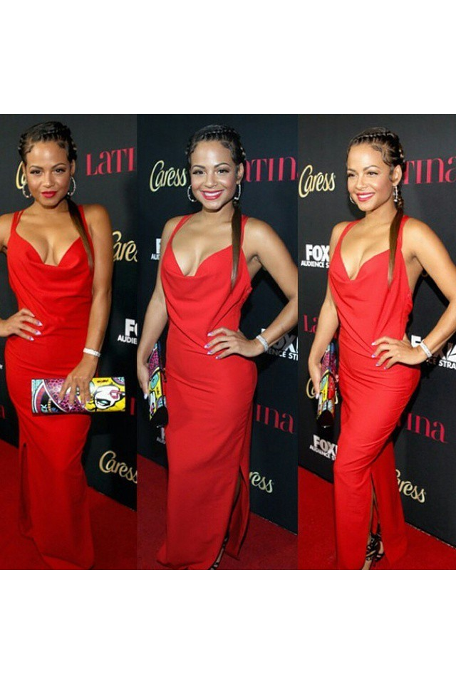 Christina Milian wearing Pabla