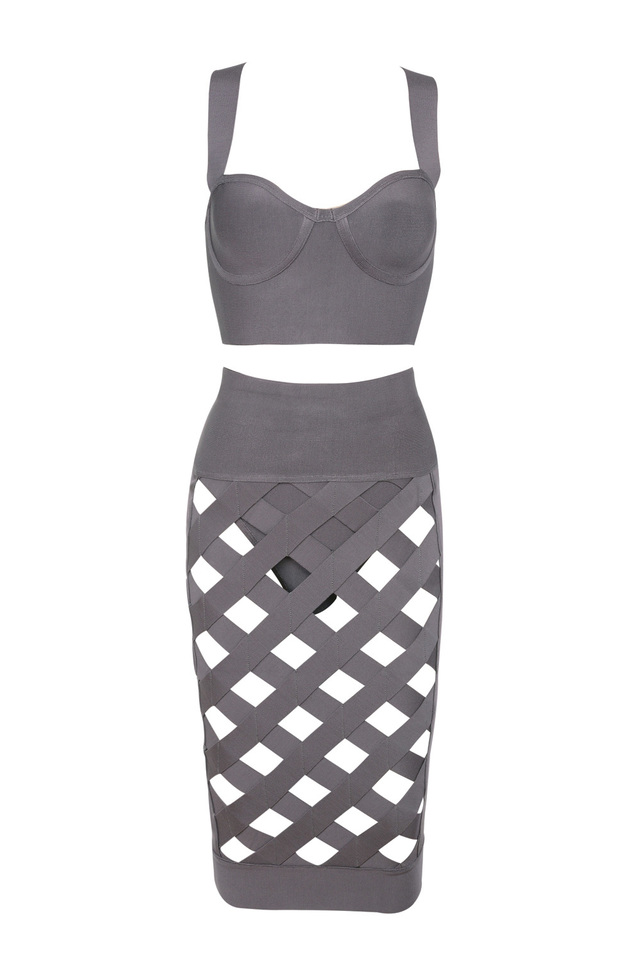 the brandi two piece dress in taupe