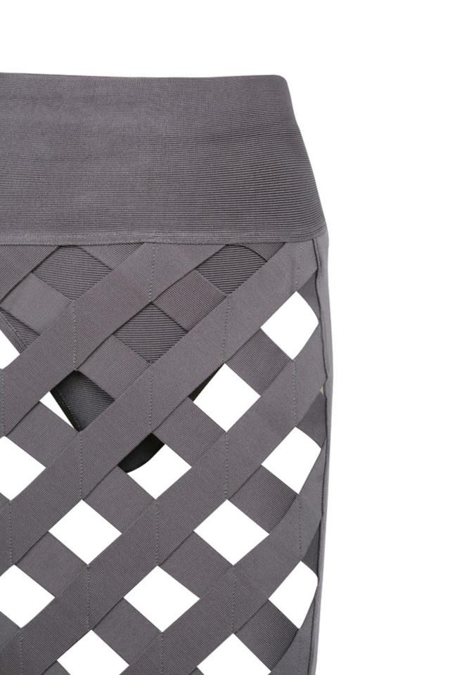 the brandi bandage dress in taupe