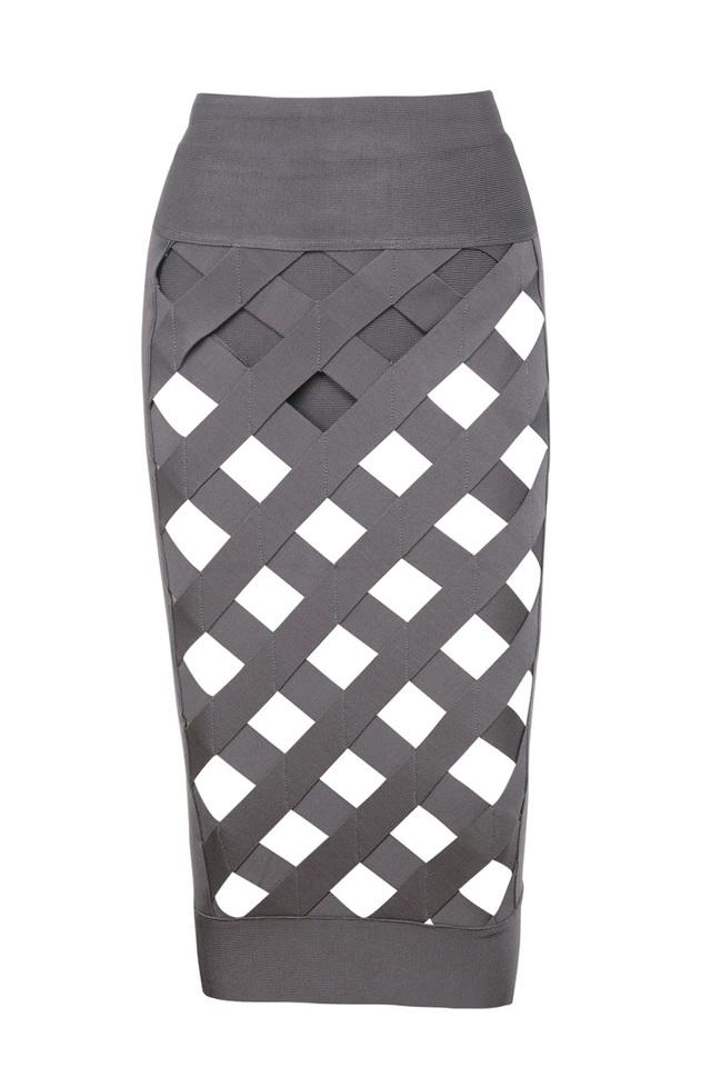 taupe bandage dress