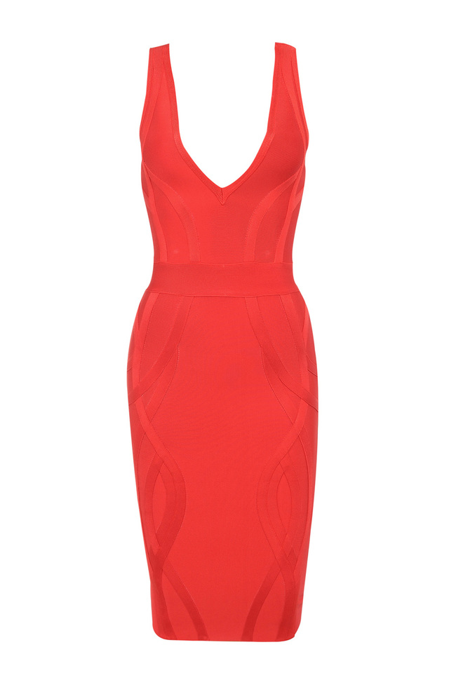 the cici bandage dress in red