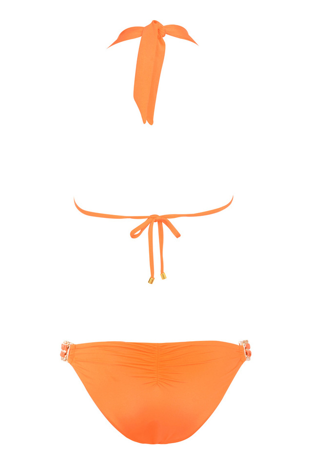 Orange bikini with embellishments