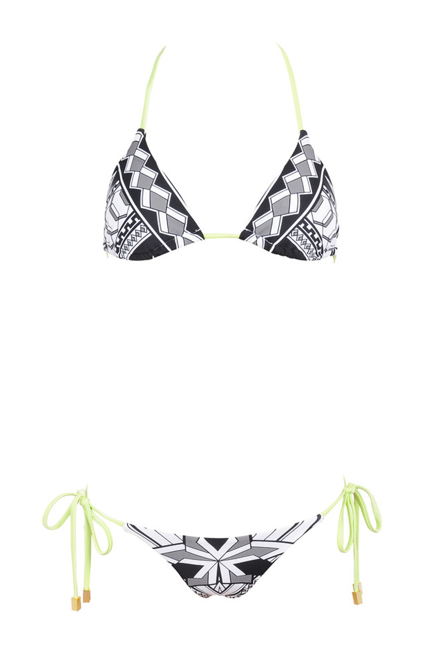 the java bikini in black and white