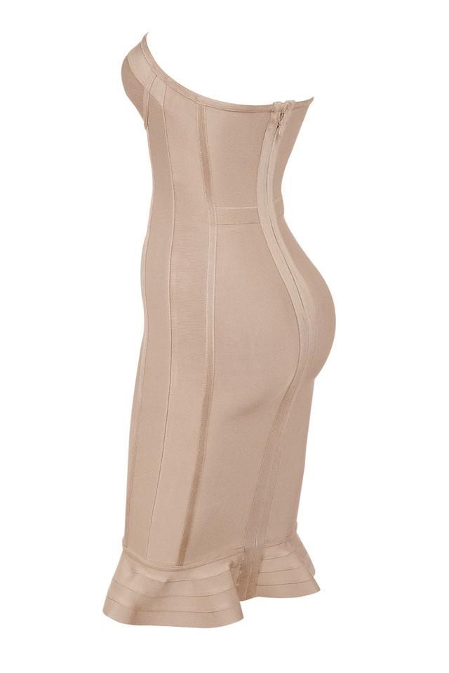 oman nude bandage dress