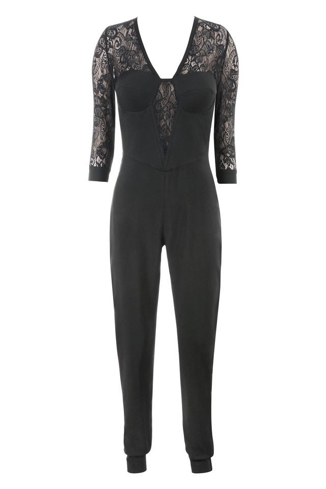 the stefanel jumpsuit in black