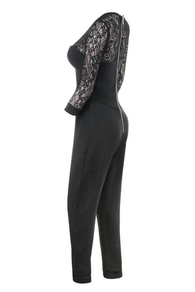 stefanel black jumpsuit