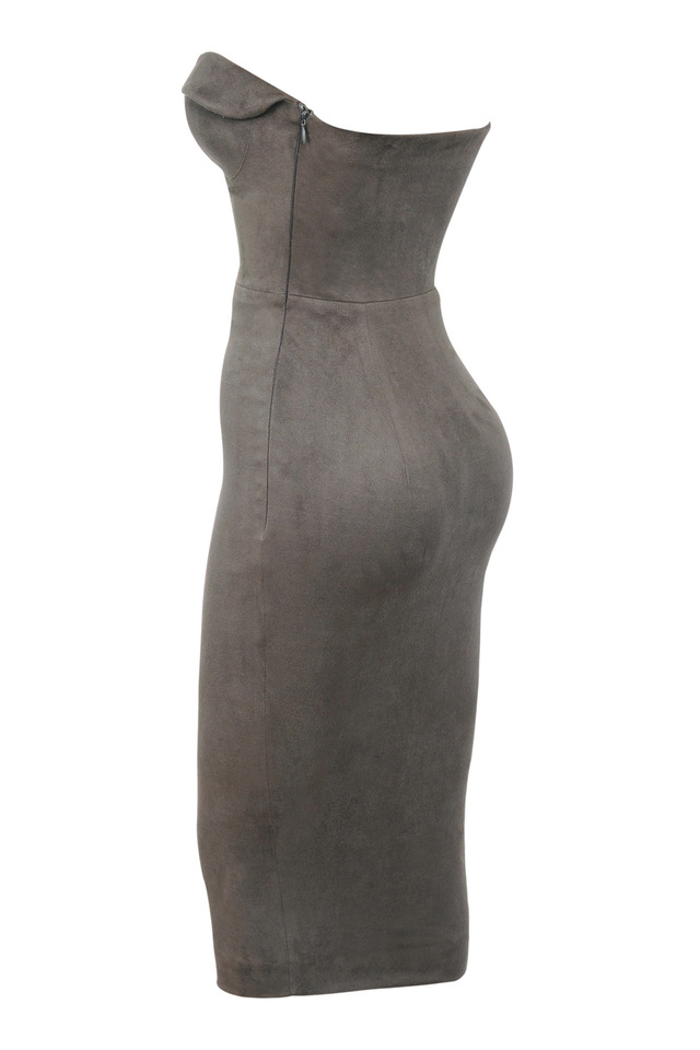 taupe pia dress