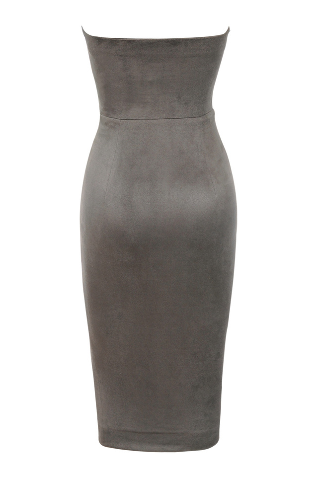 pia dress in taupe
