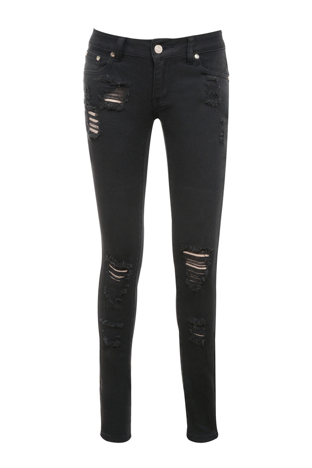 the starlet denim jeans in black