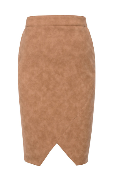 the marinetta pencil skirt in tan