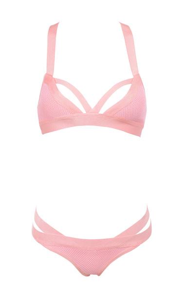 Pink Bandage and Mesh bikini
