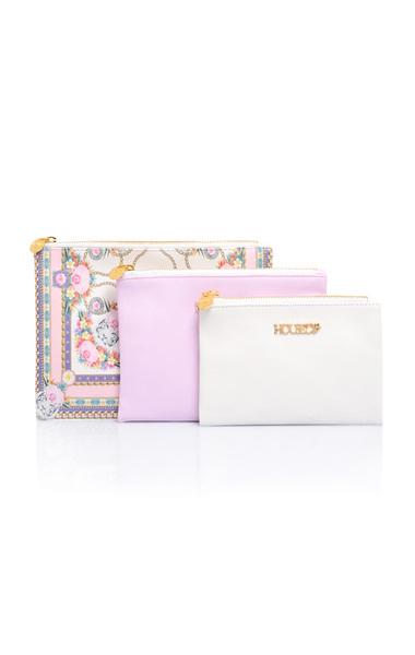 True Love Pink Print Set of 3 Make Up Bags