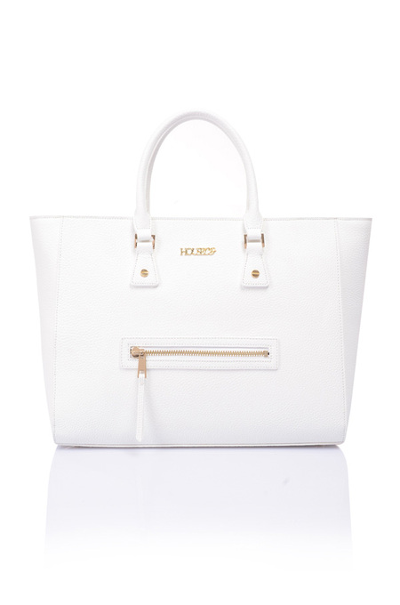 Rodeo White Real Leather Tote Bag