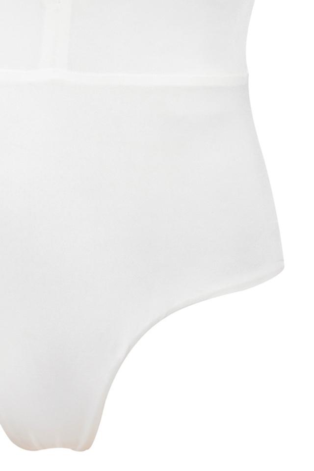 the lorenza bodysuit in white