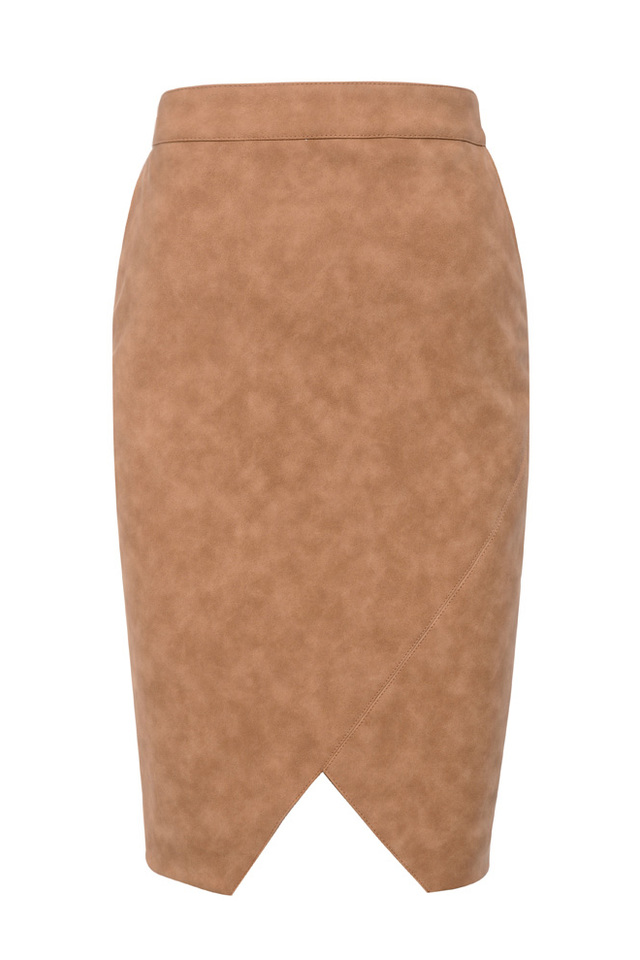 the marinetta pencil skirt in tan