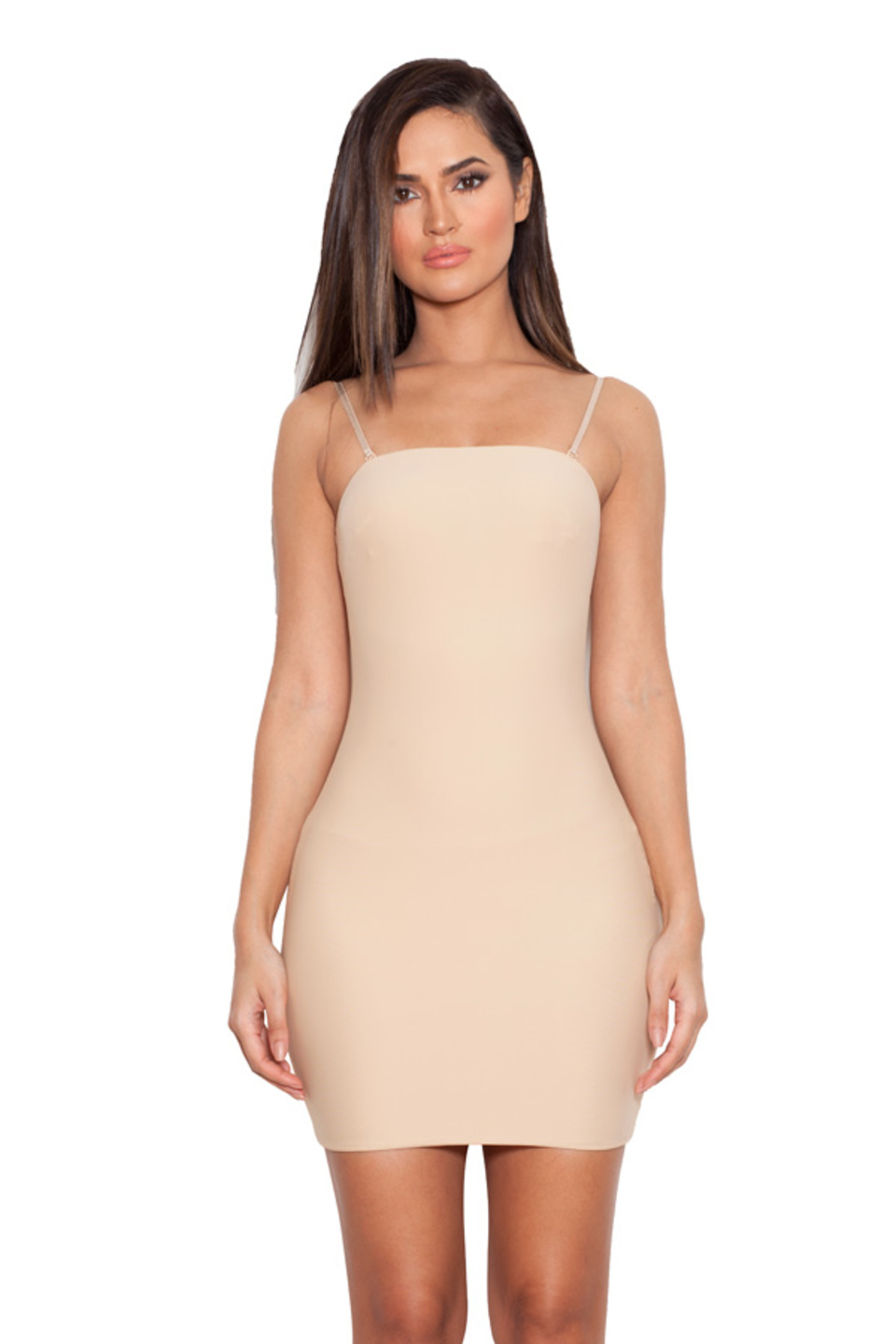 Nudist Nude Elastane Underdress Body Slip