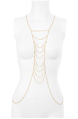 Gold Tone Multi Strand Body Chain