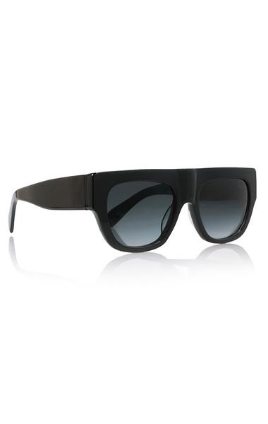 Too Glam Black Acetate Sunglasses