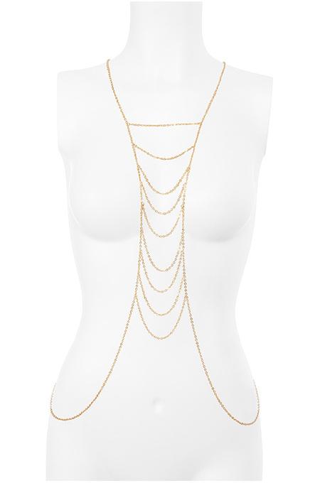 Gold Tone Multi Strand Body Chain
