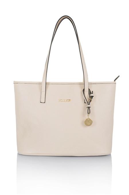 Maison Cream Leatherette Tote Bag
