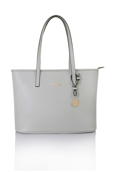 Maison Grey Leatherette Tote Bag