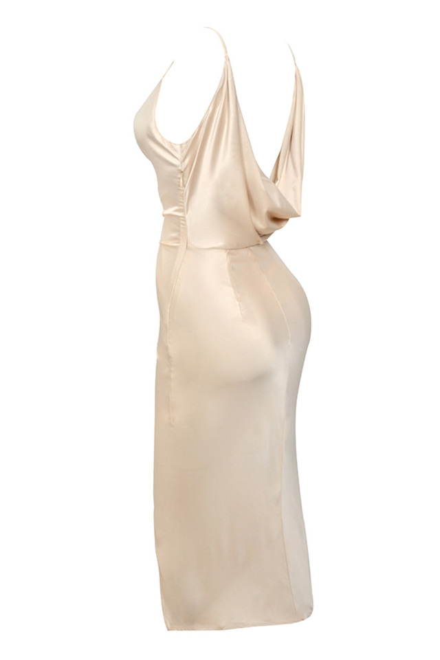 coco dress in nude