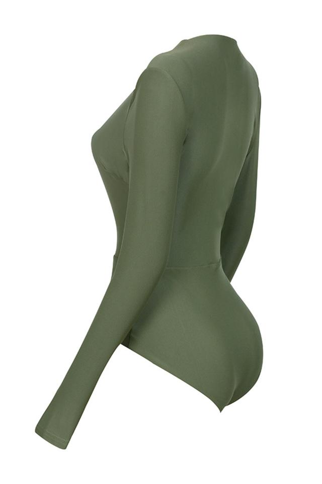 lorenza bodysuit in khaki