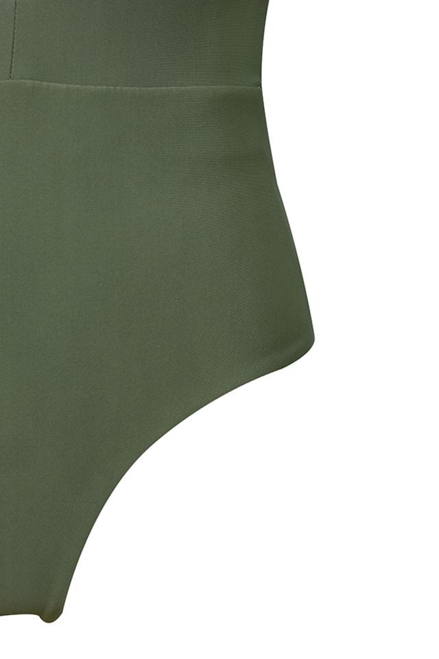 khaki lorenza bodysuit