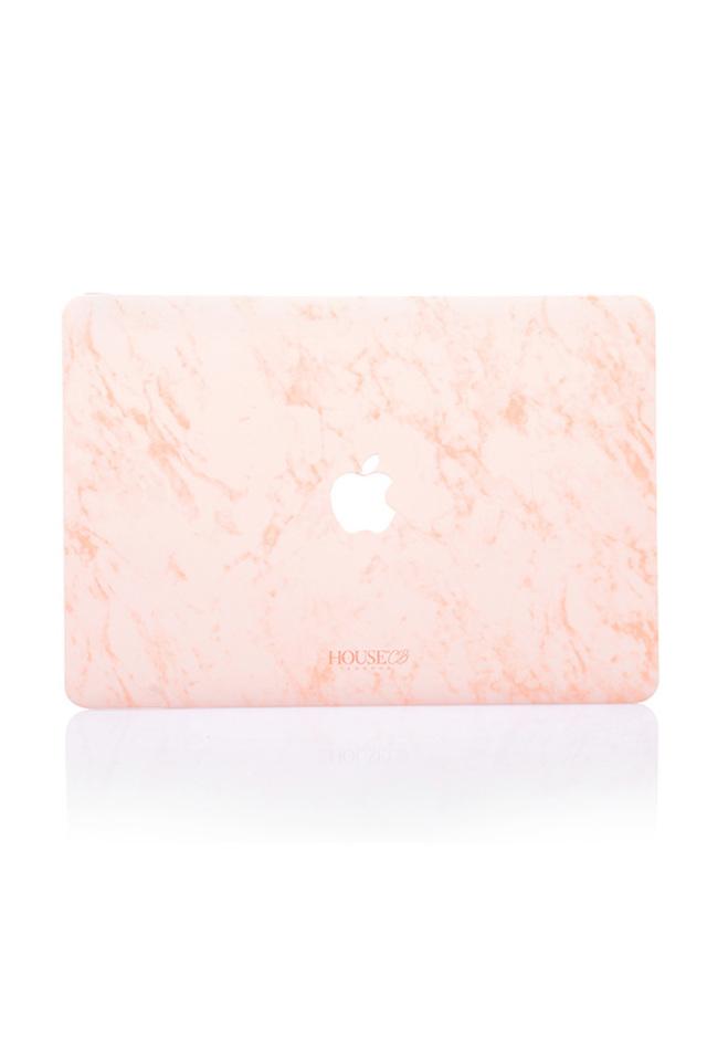 Pink Marble Print House of CB Laptop Case