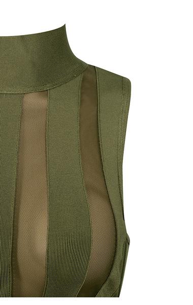 rodrigo dress in khaki