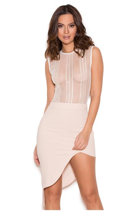 Cascana Blush Thigh Split Skirt