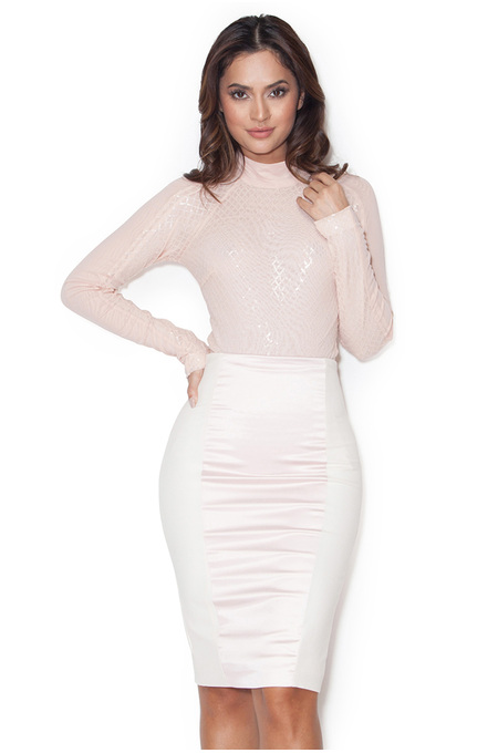 Marnel Blush Sequinned Long Sleeve Bodysuit