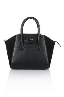 Perfection Black Genuine Leather Handbag
