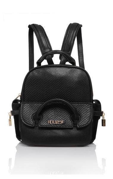 Paragon Black Vegan Leather Mini Backpack