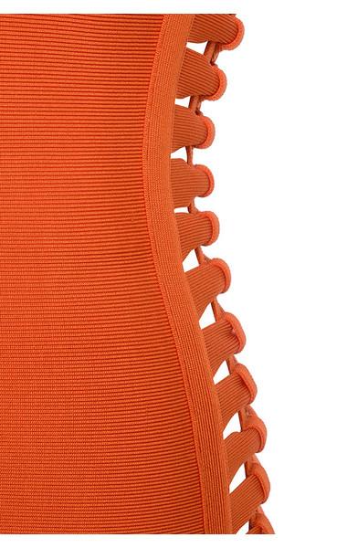 orange martinique dress