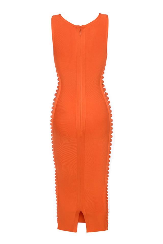 martinique dress in orange