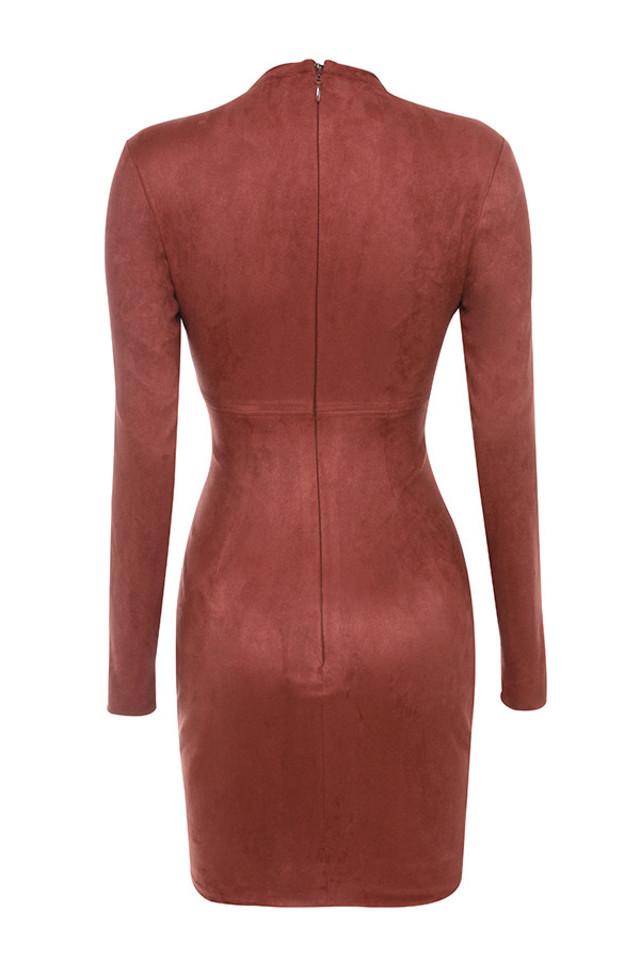 shamala dress in rust