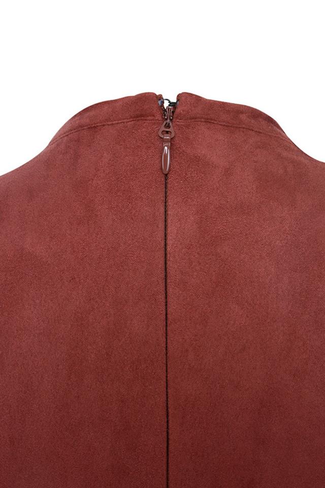 shamala rust dress