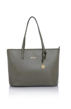 Maison Mocha Leatherette Tote Bag
